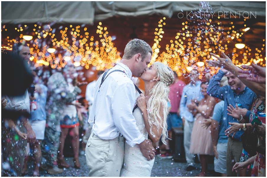 confetti and twinkle lights wedding