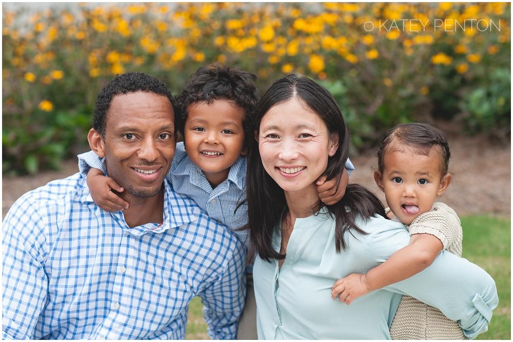 outdoor family portrait, Emory Campus, Atlanta family portrait photographer