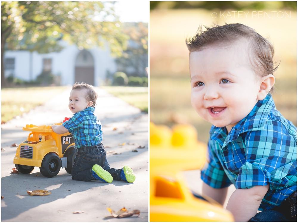 Tonka truck one year birthday portraits