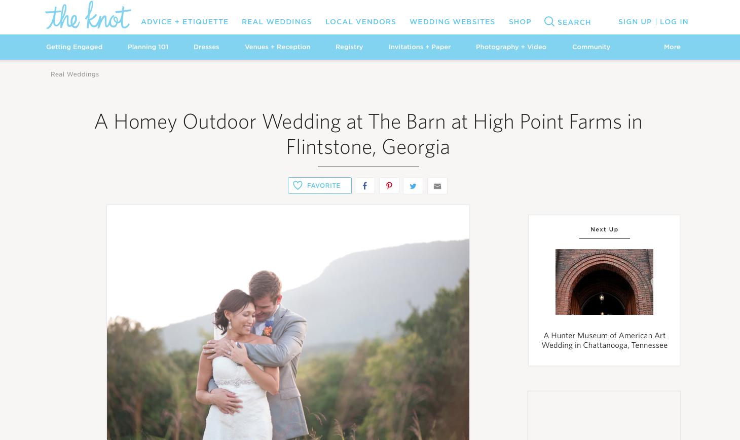 atlanta wedding photographer featured on the knot wedding website best atlanta wedding photographer mountain