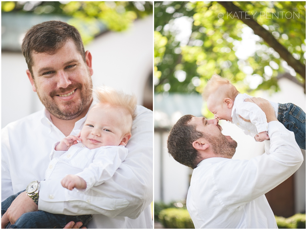 Dad and 3 month baby boy portraits, Katey Penton Photography