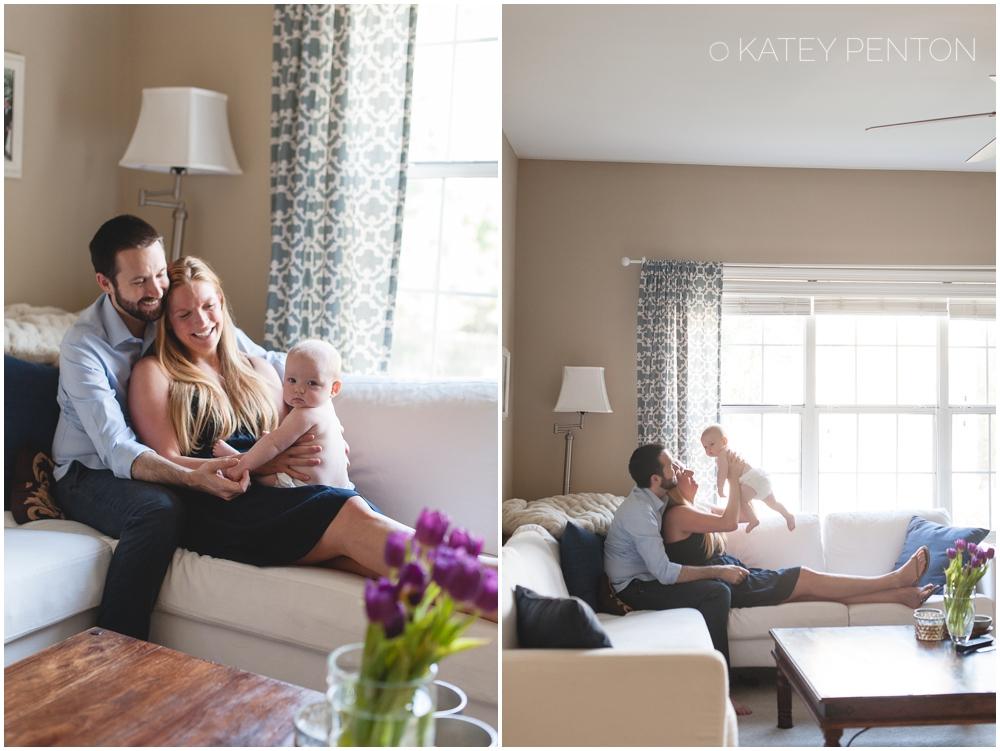 Atlanta lifestyle baby portrait session