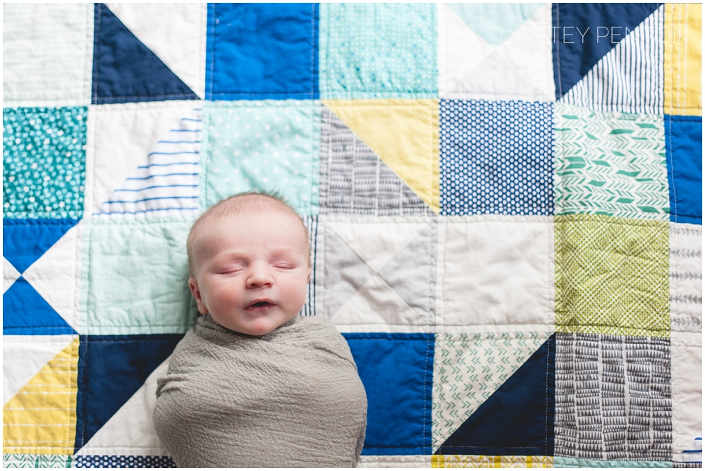 triangle quilt, newborn, Atlanta nursery