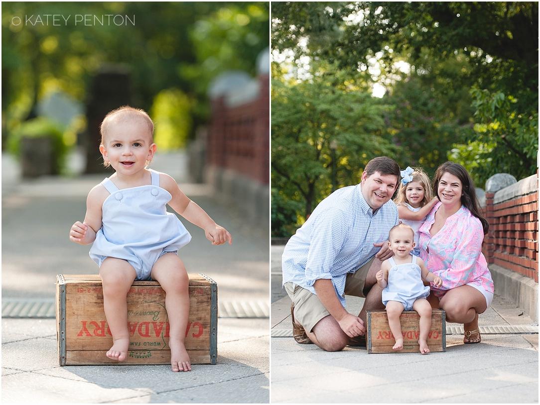 Piedmont park atlanta family photographer one year portrait session