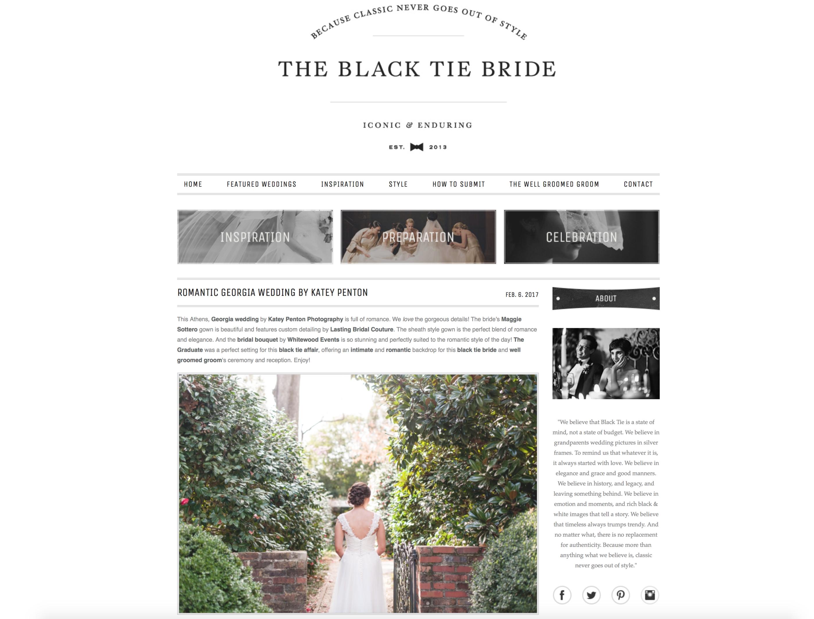 Black Tie Bride Wedding Featured Katey Penton Photography