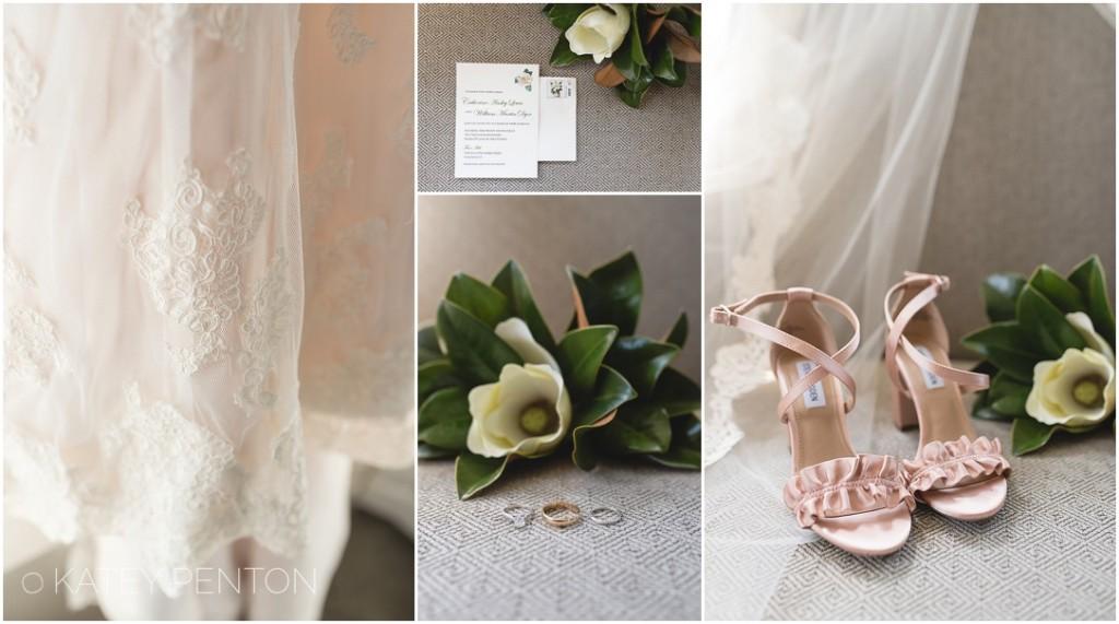 Magnolia wedding bouquet, magnolia themed GA summer wedding