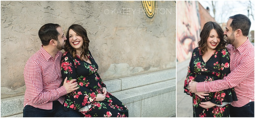 maternity portraits in Decatur square, downtown Decatur GA